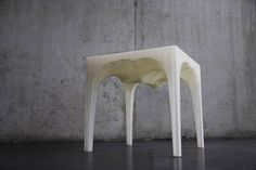 NOWlab created a recyclable piece of furniture inspired by layering and natural recycling of ice inside a glacier. Modele Impression 3d, Contemporary Home Furniture, 3d Printing Technology, Three Dimensional, Biodegradable Products, The 100, Stool, Recycling, Create
