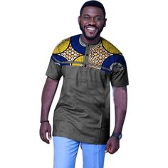 Item Type: TopsTops Type: TeesGender: MenSleeve Style: Regular Type: BatikMaterial: Polyester,CottonHooded: NoSale by Pack: NoCollar: Henry CollarSleeve Length(cm): ShortPattern Type: PrintStyle: CasualBrand Name: Dance.STime of sale: Number: Fashion Nigerian Men Fashion, African Men Fashion, African Fashion Dresses, African Dress, African Clothes, African Wear Styles For Men, African Shirts For Men, African Print Shirt, Mens Fashion Wear