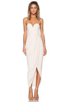 Bustier Draped Maxi Dress