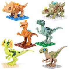 Dinosaur Tyrannosaurus Rex Jurassic World Park 6 FIG Minifigures Building Toys M