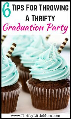 #sponsored Tips for Throwing a Thrifty Graduation Party. Includes free printable graduation party planner. Find simple tips for a graduation party high school students or college students.