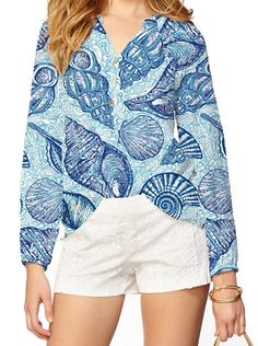Lilly Pulitzer Elsa Top in Stuffed Shells