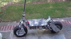 Ben Katz has converted an old kick scooter into what he describes as an all-terrain electric scooter.