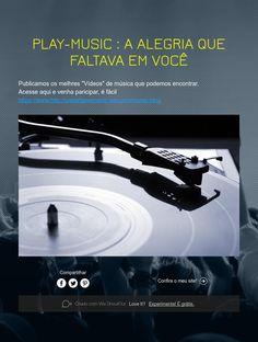 PLAY-MUSIC : A ALEGRIA QUE FALTAVA EM VOCÊ