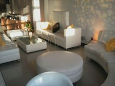 Streamlined look for a private networking lounge at a tradeshow or event