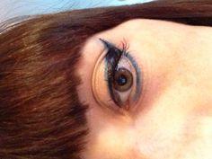 Ispirazione da foto doppia riga, doppio colore lungo eyeliner