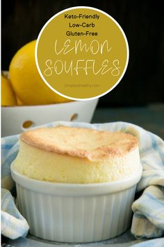 This recipe for keto-friendly lemon soufflés (or soufflé au citron) makes an easy, inexpensive, but elegant dessert. 🍋If you're looking for a keto lemon dessert that satisfies that craving for tart citrus goodness, this one is sure to fit the bill. ❤️Dairy-free, Gluten-free.