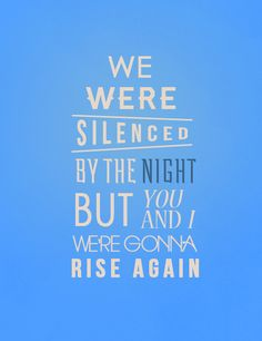 Keane Silenced By the Night <3