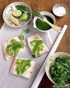 Cilantro-Ginger Halibut Recipe