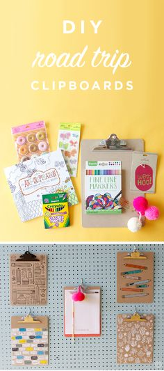 Road Trip Clipboards - Think. Fun Crafts For Kids, Summer Crafts, Diy For Kids, Summer Fun, Hello Summer, Road Trip With Kids, Family Road Trips, Travel With Kids, Road Trip Activities