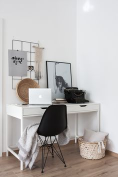 Work space. Nordic/boho home office.