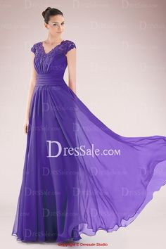 Ethereal Chiffon Mother of Bride Dress Featuring Lace Applique and Delicate Ruches