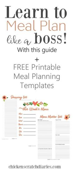 A Completely Basic Guide to Meal Planning on a Budget (+ templates) A Completely Basic Guide To Creating a Weekly Meal Plan on a Budget Budget Meal Planning, Meal Planning Printable, Budget Meals, Weekly Budget, Kid Meals, Weekly Meals, Freezer Meals, Easy Meals, Healthy Recipes On A Budget