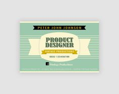 Retro business card 4 color variations business cards retro retro business card 4 color variations business cards retro and business colourmoves