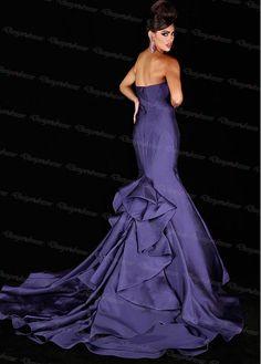7dc83616f3 Dark Blue Mermaid Sweetheart Neck Satin Prom Dress 2016 New Style on Luulla  Custom Made Prom