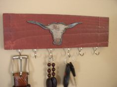 Western style jewelry/necklace organizer wall rack by Gotahangup, $14.00