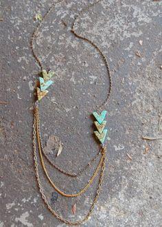 arrow necklace from bark