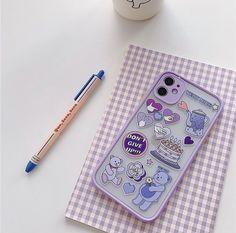 Kpop Phone Cases, Cases Iphone 6, Kawaii Phone Case, Girly Phone Cases, Diy Phone Case, Phone Covers, Lavender Aesthetic, Purple Aesthetic, Tumblr Phone Case