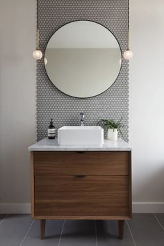 Bathroom decor for your bathroom remodel. Learn bathroom organization, master bathroom decor ideas, master bathroom tile ideas, master bathroom paint colors, and much more. Modern Bathroom Design, Bathroom Interior Design, Minimal Bathroom, Modern Design, Bathroom Flooring, Bathroom Faucets, Remodel Bathroom, Bathroom Mirrors, Bathroom Cabinets