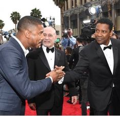 Denzel and Michael B. Michael B Jordan, Michael Ealy, Lifetime Achievement Award, Timothy Olyphant, Best Supporting Actor, Denzel Washington, Dwayne Johnson, Christina Hendricks, Celebs