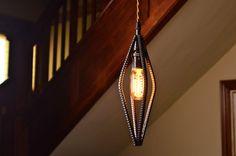 Industrial Rebar Pendant Light in clear finish