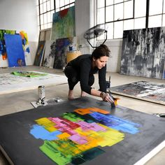 UGallery artist Mia Henry at work in her studio.