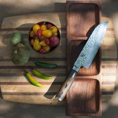Shun's classic Santoku knives are forged from high-carbon stainless steel blades