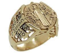 Mens Gold Rings, 14k Gold Ring, Rings For Men, Sign Of The Cross, Gold Top, Cristiano, Vintage Rings, Handmade Silver, Roman Catholic