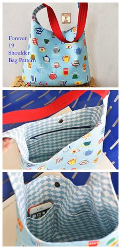 Forever 19 shoulder bag pattern.