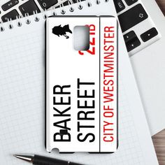 Baker Street 221B Sign Samsung Galaxy Note 4 Case | casefantasy