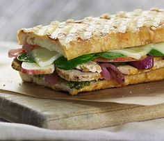 White Cheddar Turkey & Apple Panini, coming soon to a Panera near you.  http://recipes.howstuffworks.com/panera-bread-sandwich-showdown-contest.htm