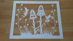 UNFRAMED Fairy And Toadstool Scene Paper by NicolasIntricateCuts