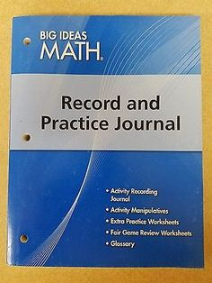 Big Ideas Math RECORD & PRACTICE JOURNAL Grade 8 Course 3 Blue  9781608404636