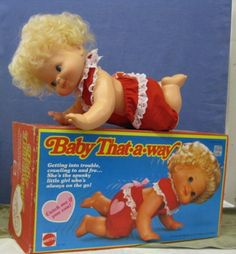 Baby Dolls From the 1970s | baby that a way baby that a way by mattel mint with box and works 75 ...