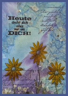 Mixed Media Birthday Card - Daniela Rogall