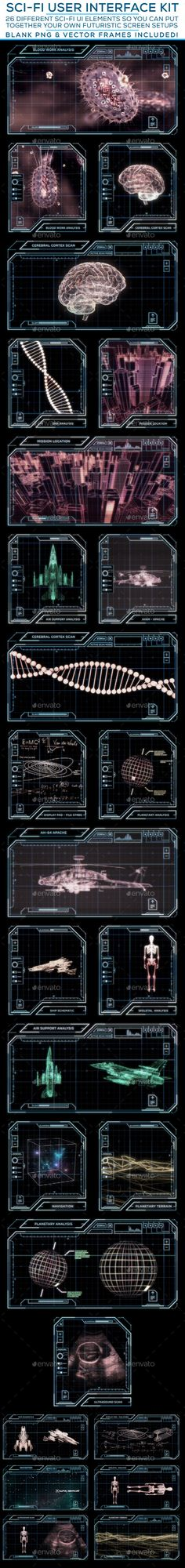 Sci-Fi User Interface Kit Template PSD #design #ui Download…