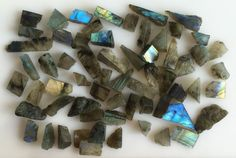 477CT NATURAL LABRADORITE ROUGH SLICE GEMS FLASHY LOOSE LOT RAW MINERAL SPECIMEN #ROUNDSNROSES