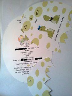inside of dinosaur baby shower invitations   Dino-Mite Custom Dinosaur Themed Baby Shower Diaper Cake   Chelle's ...