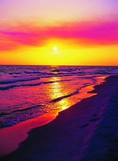 Sunset by the beach, Panama City Beach.