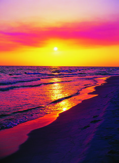 Sunset by the beach, Panama City Beach.