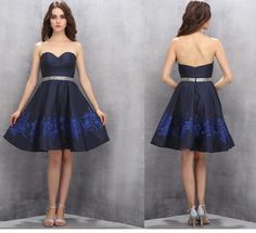 Short Homecoming Dresses,Cute Homecoming Dresses,Sweetheart Homecoming Dresses,A-line Prom Gown,Navy Blue Prom Dresses,Sexy dress