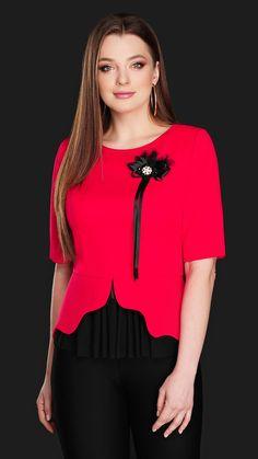 Блуза DiLiaFashion 0104 красный купить с доставкой по России | Интернет-магазин BelaRosso-shop.ru