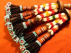 Turkoman Vintage Beaded Tassels.