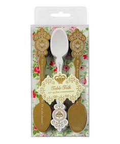 Look what I found on #zulily! Conversation Starter Spoon - Set of 30 #zulilyfinds