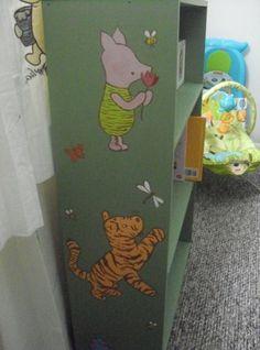 Classic Pooh Bookcase Winnie The Nursery Bear Creme Color
