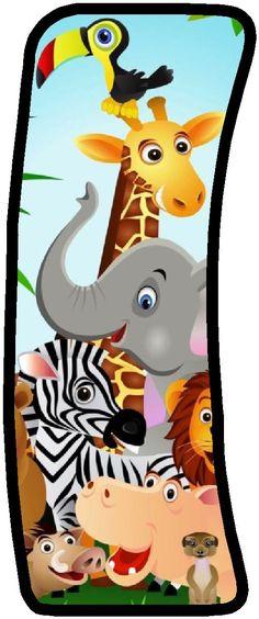 """Képtalálat a következőre: """"party safari"""" Safari Party, Safari Theme Birthday, Safari Birthday Party, Jungle Party, Jungle Safari, Baby Zoo Animals, Alfabeto Animal, Scrapbook Letters, Animal Letters"""