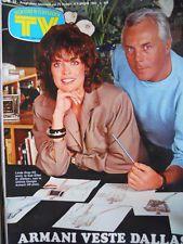TV Sorrisi e Canzoni n°22 1983 Giorgio Armani veste Linda Gray Dallas  [C95]