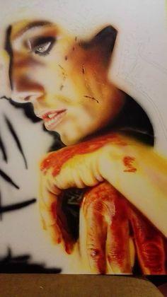 rosso arancione marrone per le mani incomincio a definire le righe della pella sulle dita e le nocche