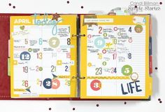 April Life Documented Planner Page by design team member Candi Billman