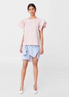 Popeline-bluse | MANGO